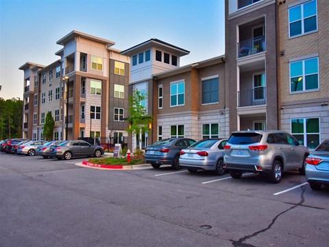 Off Street Parking Facility at Pointe at Lake CrabTree, North Carolina, 27560
