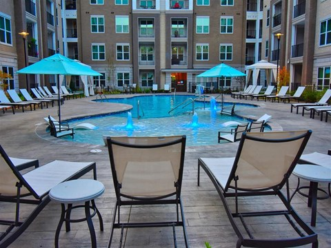Outdoor Swimming Pool at Pointe at Lake CrabTree, Morrisville, NC