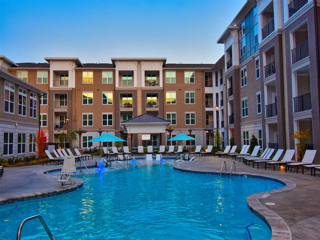 Swimming Pool With Relaxing Sundecks at Pointe at Lake CrabTree, Morrisville, 27560
