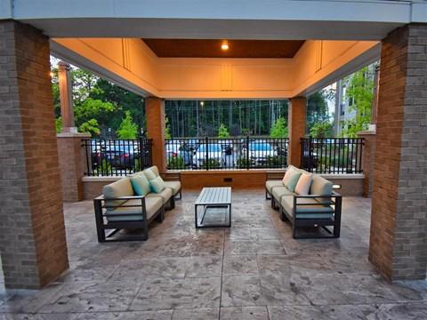Spacious, Landscaped Patio and Private Courtyard at Pointe at Lake CrabTree, North Carolina