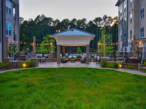 Courtyard With Green Space at Pointe at Lake CrabTree, North Carolina