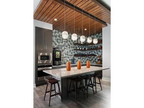 Fully Equipped Island Kitchen at Pointe at Lake CrabTree, North Carolina, 27560
