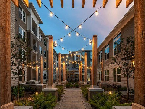 Decorated Outdoor Space at Pointe at Lake CrabTree, Morrisville, North Carolina