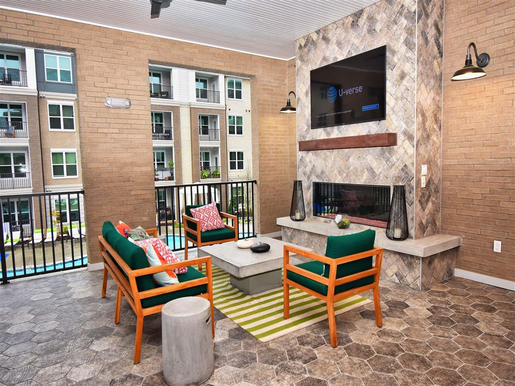Spacious Patio With Sitting Arrangements at Pointe at Lake CrabTree, Morrisville