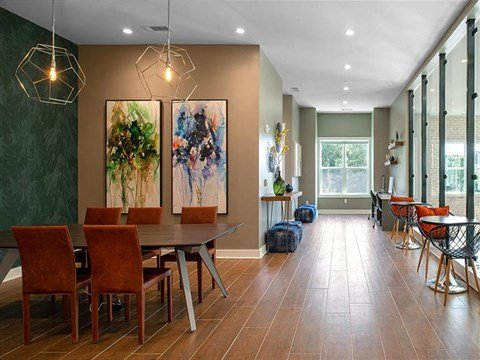 Dining Area Come Hallway View at Pointe at Lake CrabTree, North Carolina, 27560
