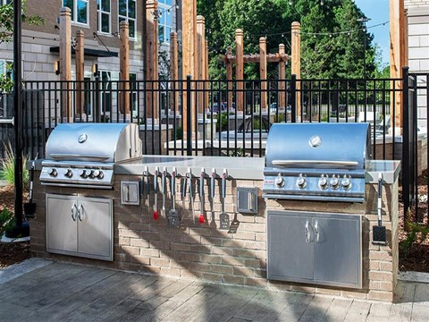 Community Grilling Station at Pointe at Lake CrabTree, Morrisville, NC
