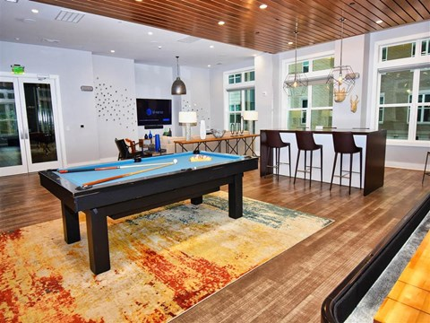 Billiards Table at Pointe at Lake CrabTree, Morrisville, 27560