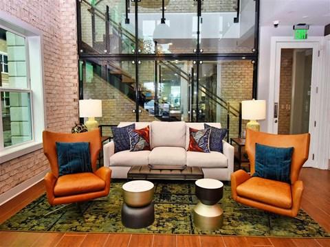 Classic Living Room Design at Pointe at Lake CrabTree, North Carolina, 27560