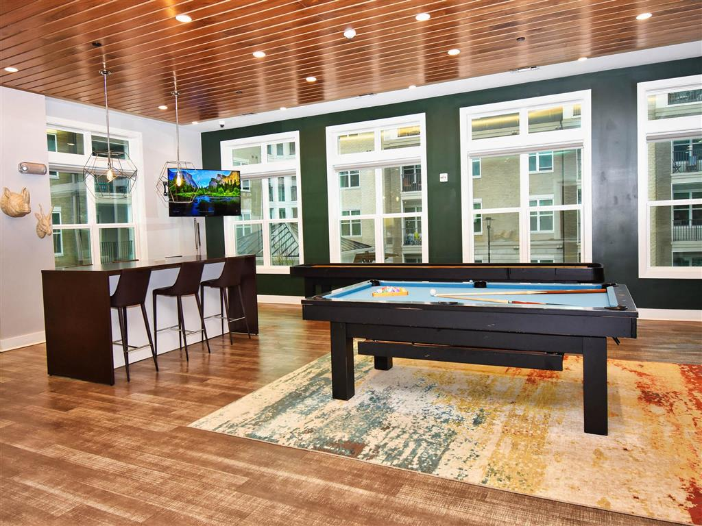 Fun Billiards Room at Pointe at Lake CrabTree, Morrisville