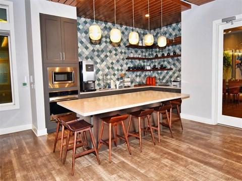 Fully Equipped Island Kitchen at Pointe at Lake CrabTree, North Carolina