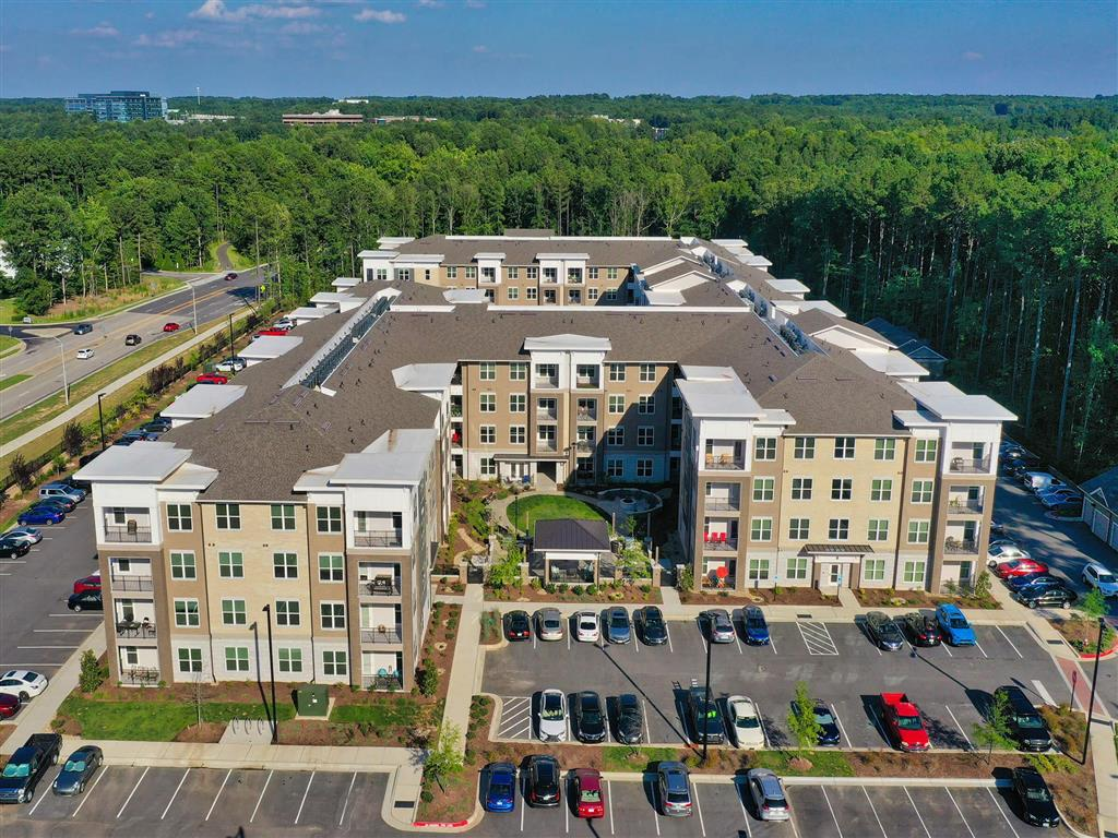 Aerial Exterior View at Pointe at Lake CrabTree, Morrisville, NC, 27560