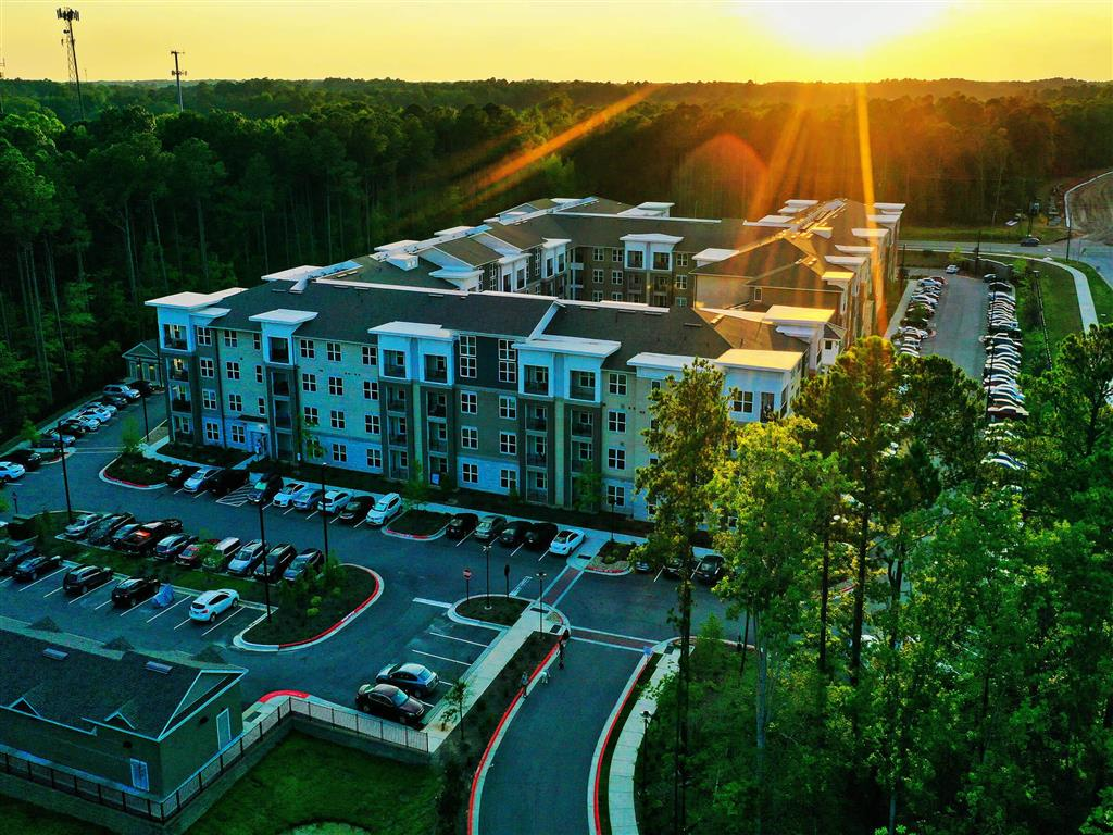 Aerial Exterior View at Pointe at Lake CrabTree, Morrisville, North Carolina