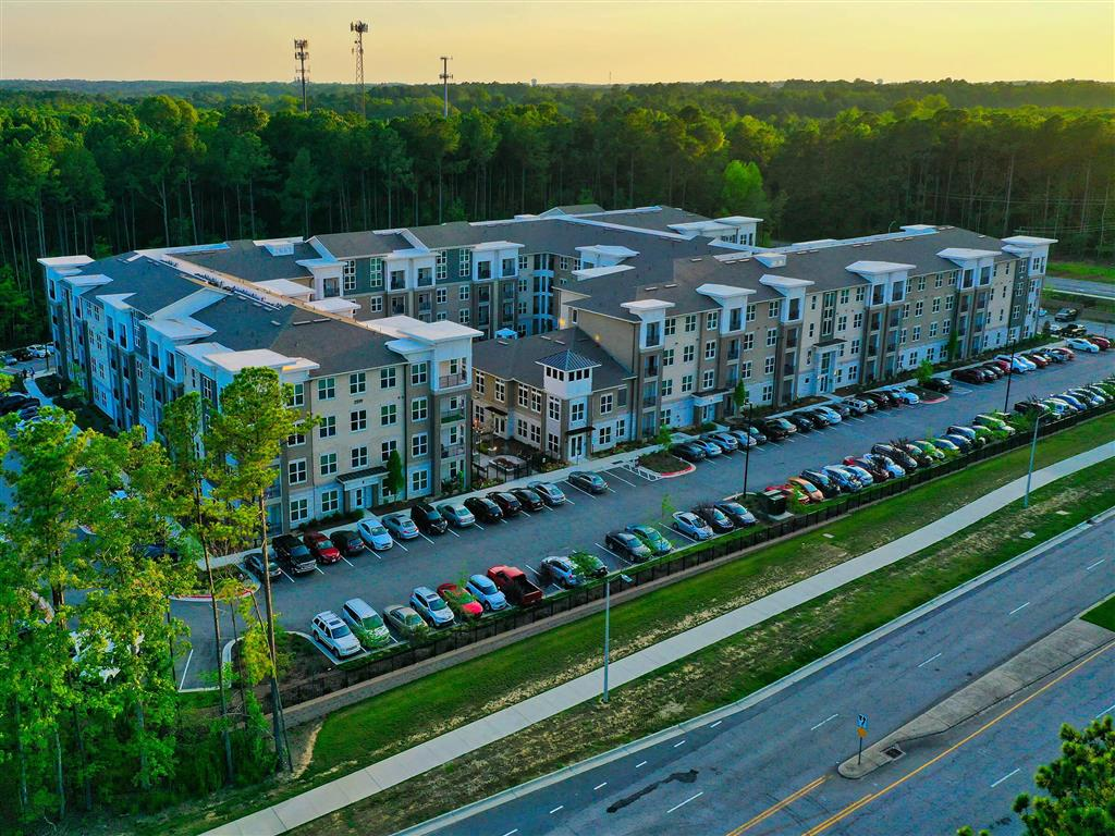 Aerial Exterior View Of Community at Pointe at Lake CrabTree, Morrisville