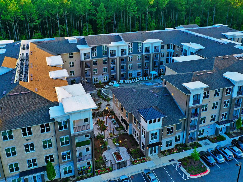 Aerial View at Pointe at Lake CrabTree, North Carolina, 27560