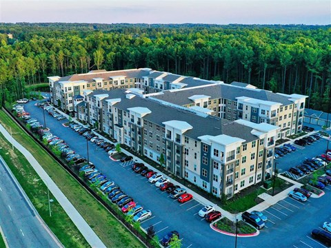 Aerial View From The Balcony at Pointe at Lake CrabTree, Morrisville