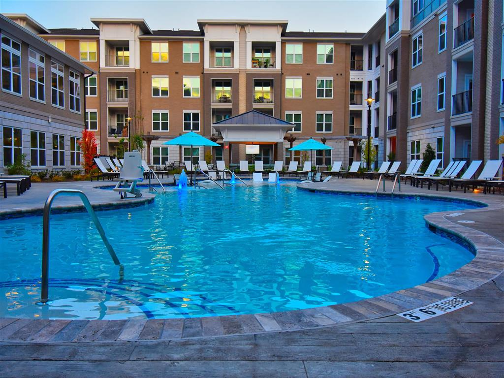 Sparkling Swimming Pool at Pointe at Lake CrabTree, Morrisville, 27560