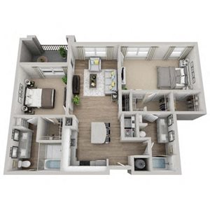 MOSS Floor Plan at Pointe at Lake CrabTree, Morrisville, North Carolina