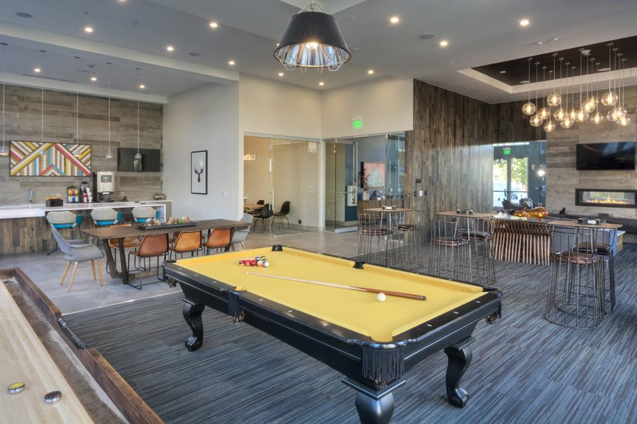 Billiards Table In Clubhouse at Trifecta Belmar, Lakewood