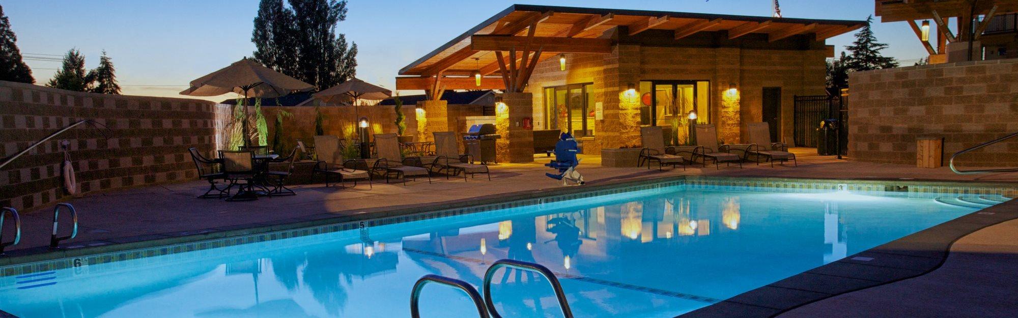 Twilight pool Image