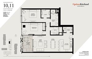 10,11 Floor Plan by Optima Kierland Apartments