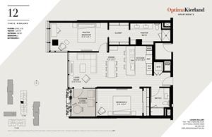 12 Floor Plan by Optima Kierland Apartments