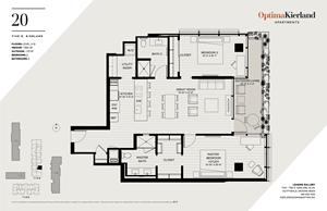 20 Floor Plan by Optima Kierland Apartments