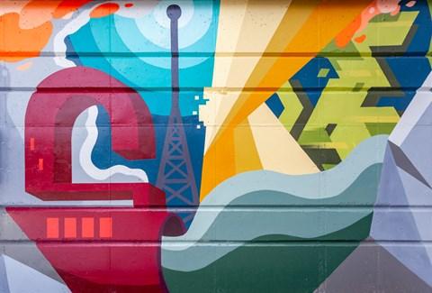 Local artist mural