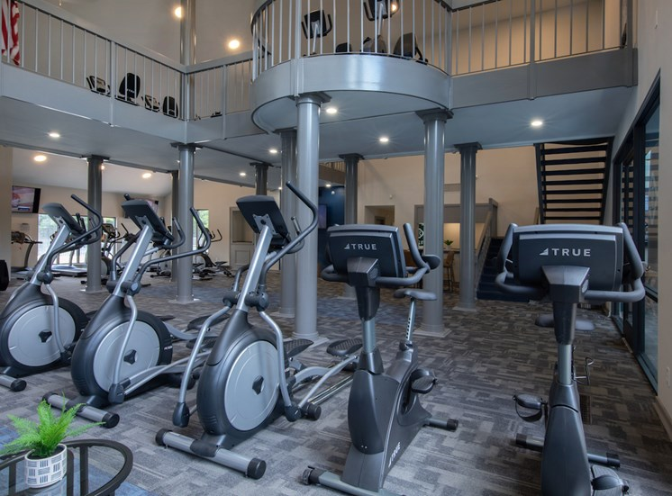 cardio fitness center with bikes, ellipticals, and more