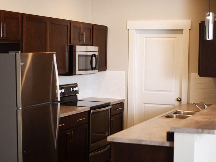 Fully-Equipped Kitchens at The Brix Apartments, Washington