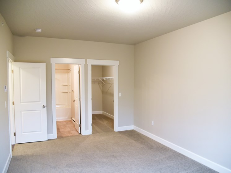 Comfortable Bedroom With Accessible Closet at The Brix Apartments, Spokane Valley, 99037