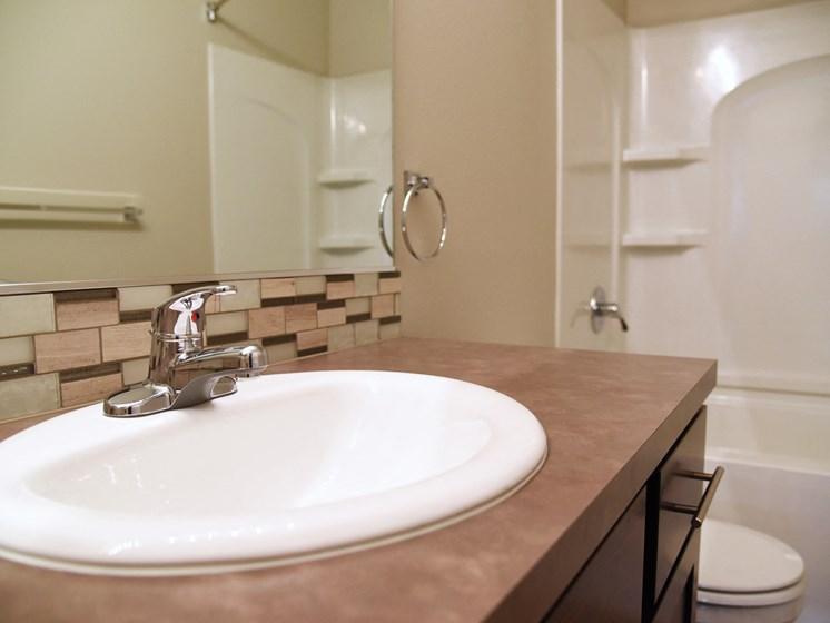 Wash Basin at The Brix Apartments, Spokane Valley
