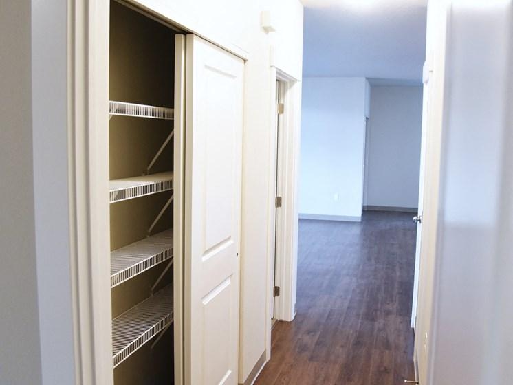 Large Walk-In Closets at The Brix Apartments, Washington