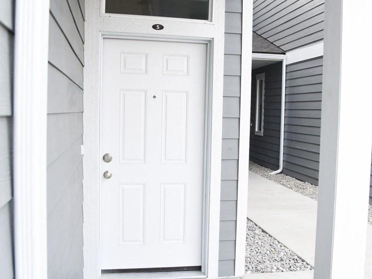 Main Door Entrance at The Brix Apartments, Spokane Valley, 99037