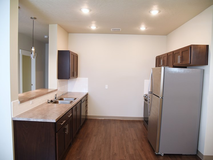Well Equipped Kitchen at The Brix Apartments, Spokane Valley, Washington