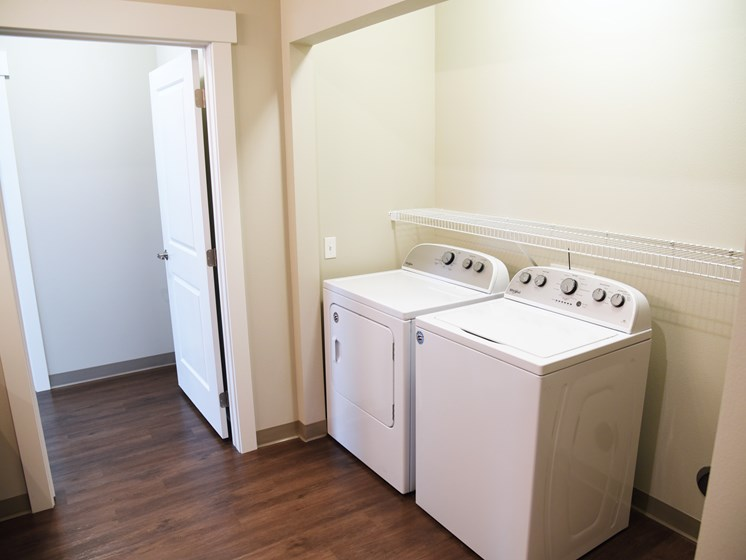 Full-Sized Washer And Dryer at The Brix Apartments, Spokane Valley