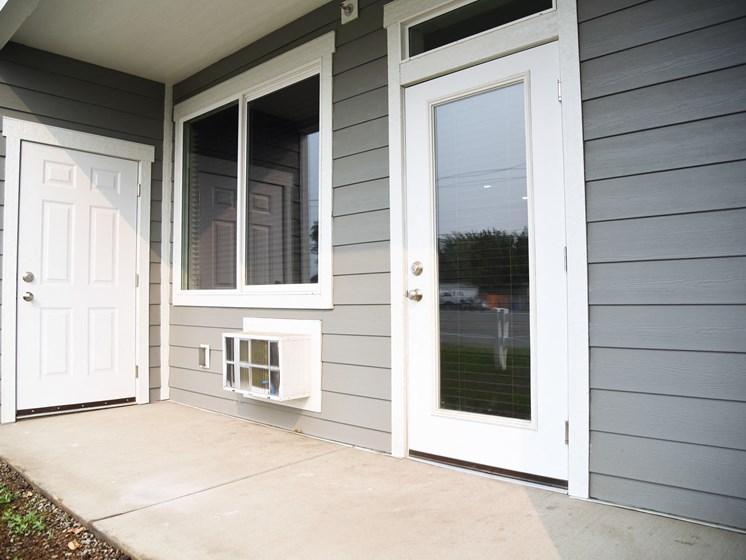 Outside Entrance Door at The Brix Apartments, Spokane Valley, WA, 99037