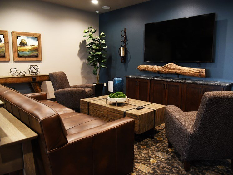 Community Clubhouse With Tv at The Brix Apartments, Spokane Valley, 99037