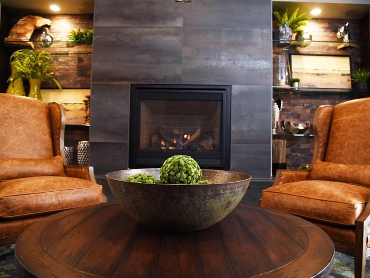 Fireplace Sitting Area at The Brix Apartments, Washington, 99037