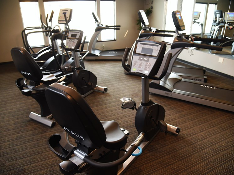 Fitness Center With Modern Equipment at The Brix Apartments, Spokane Valley, WA, 99037