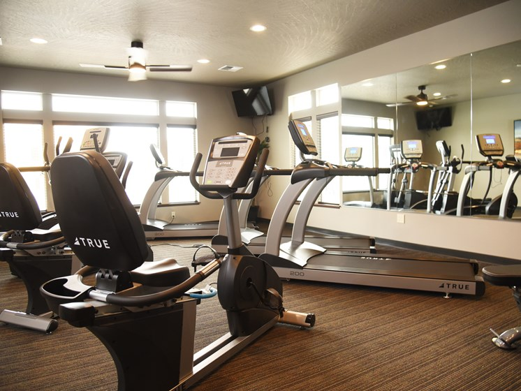 Fully Equipped Fitness Center at The Brix Apartments, Spokane Valley, WA