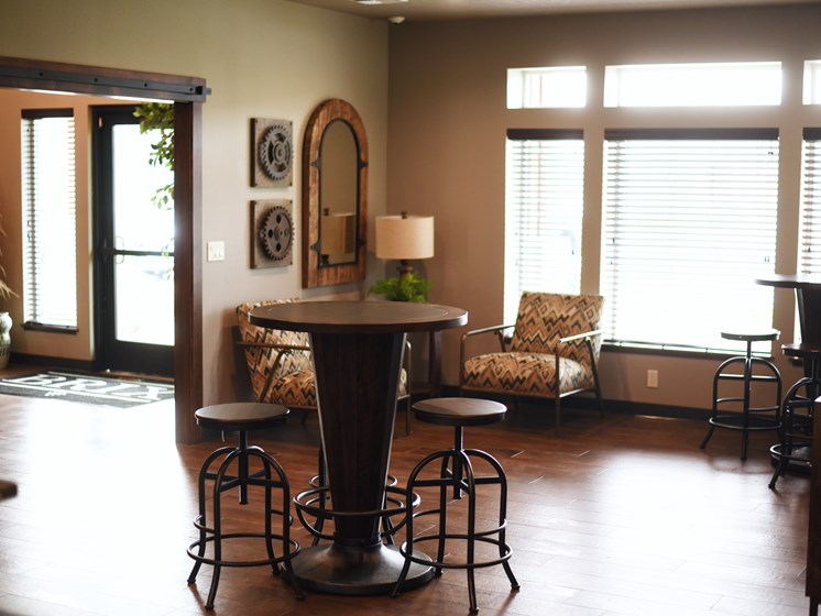 Eat-In Table Chairs at The Brix Apartments, Spokane Valley