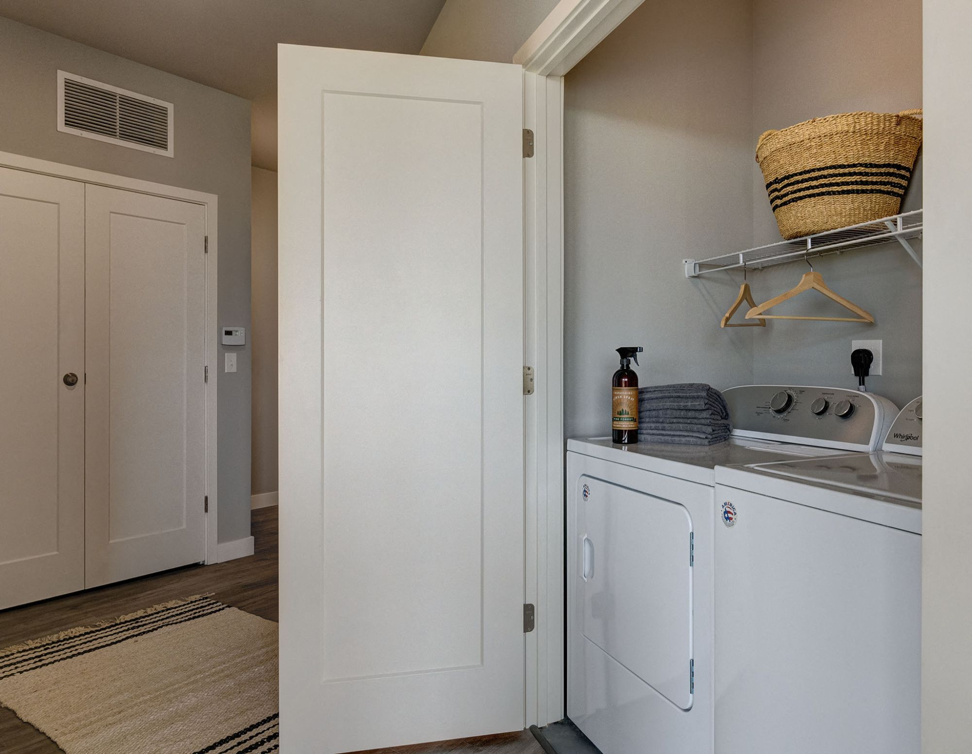 Washer and Dryer room in the model apartment