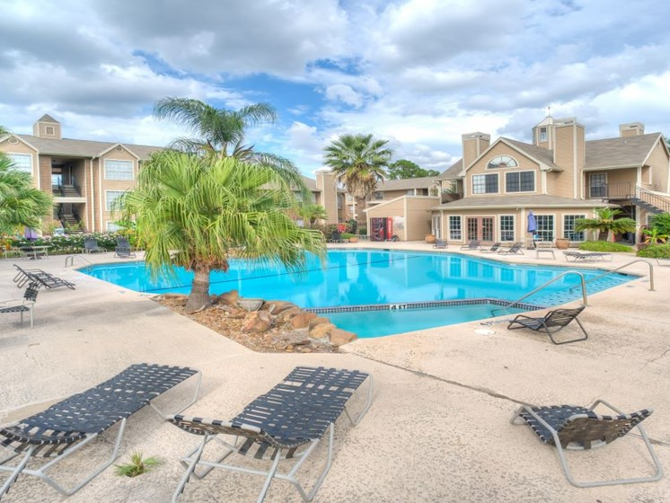 Secured Swimming Pool at Fairfield Cove Apartments, Houston, TX