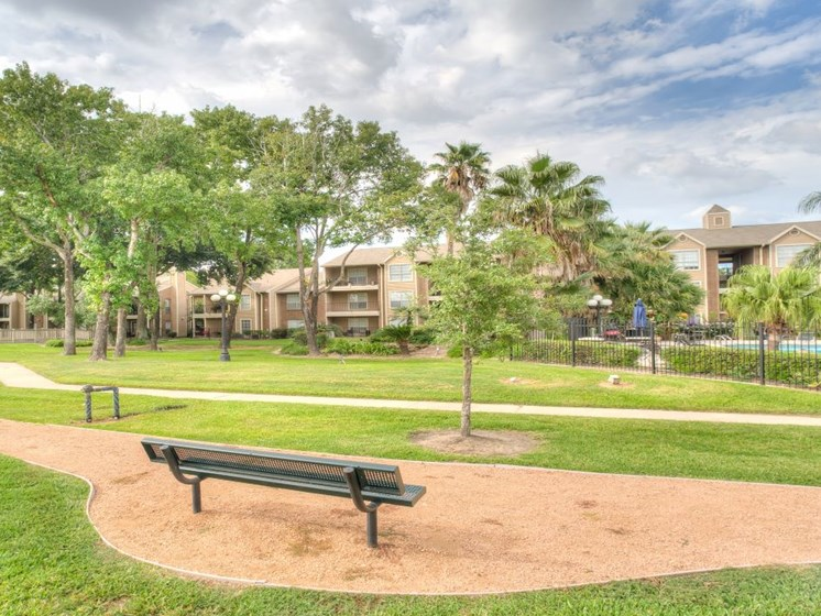 Greenspace Walking Trails at Fairfield Cove Apartments, Houston, 77090