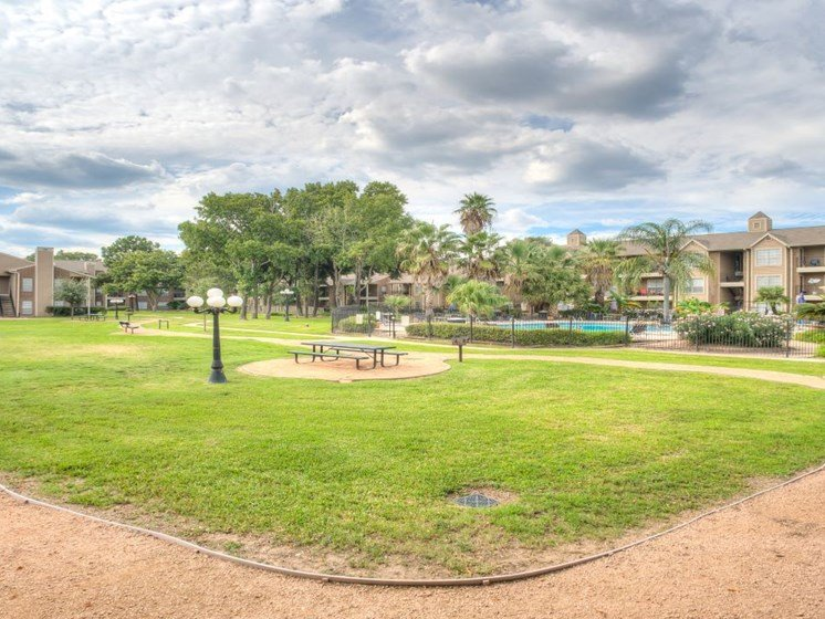 Walking Path At Green Space at Fairfield Cove Apartments, Houston