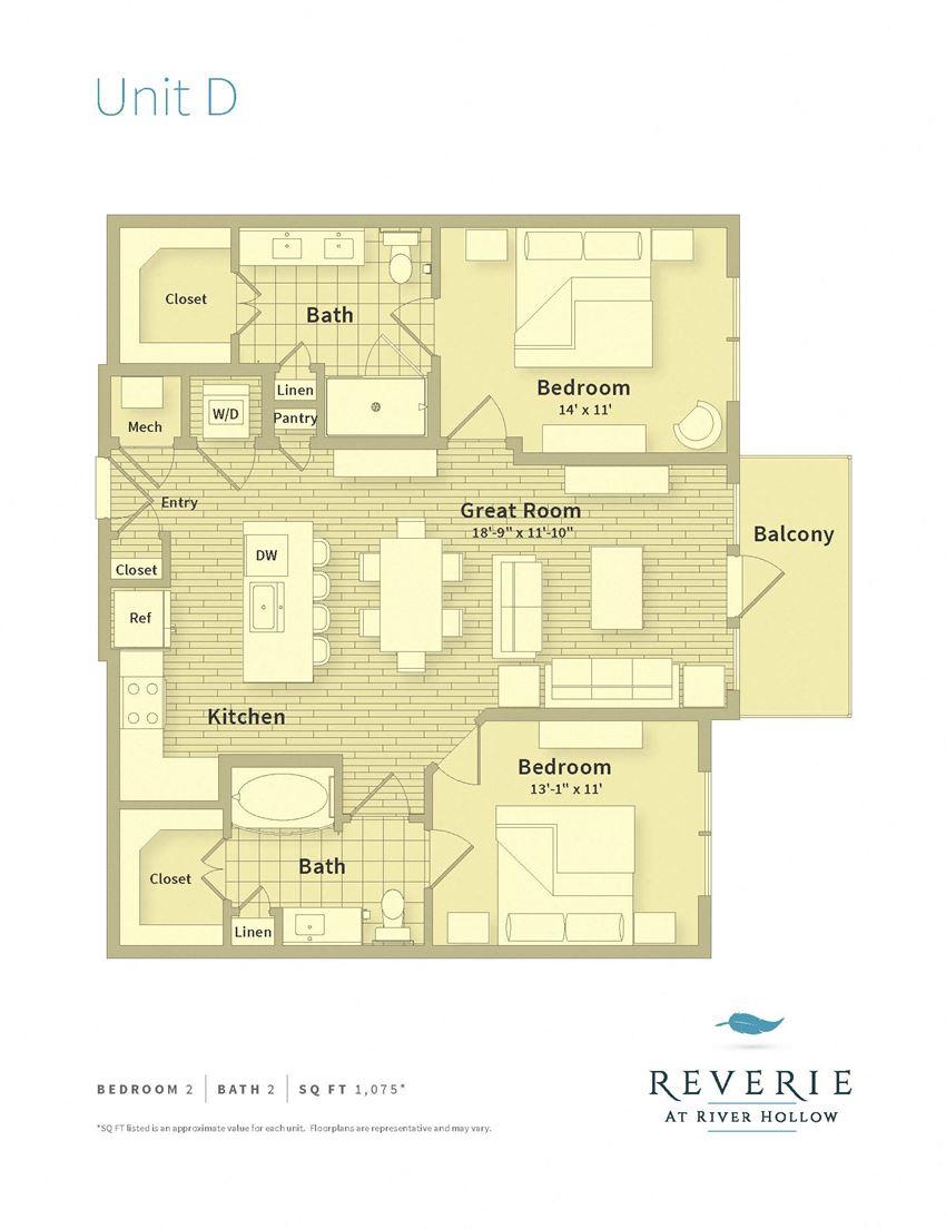 2 Bedroom, 2 bath apartment for rent