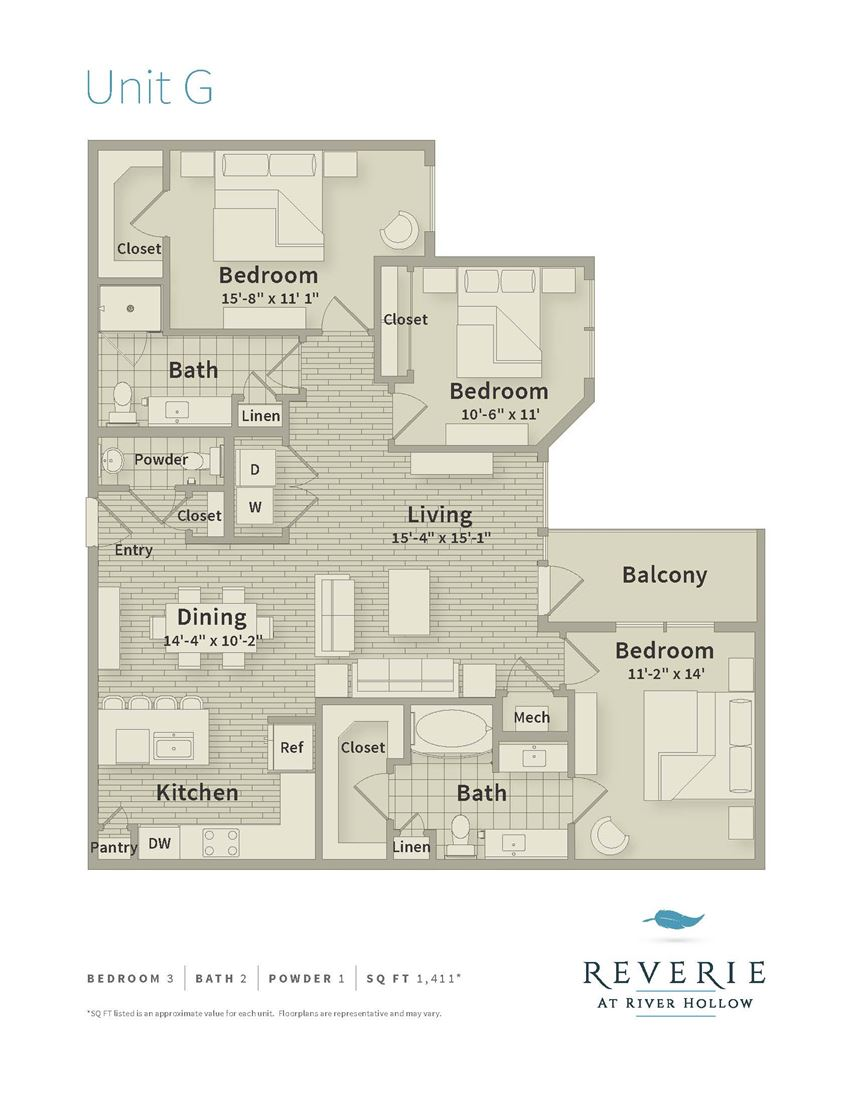 3 Bedroom apartment for rent, G Plan