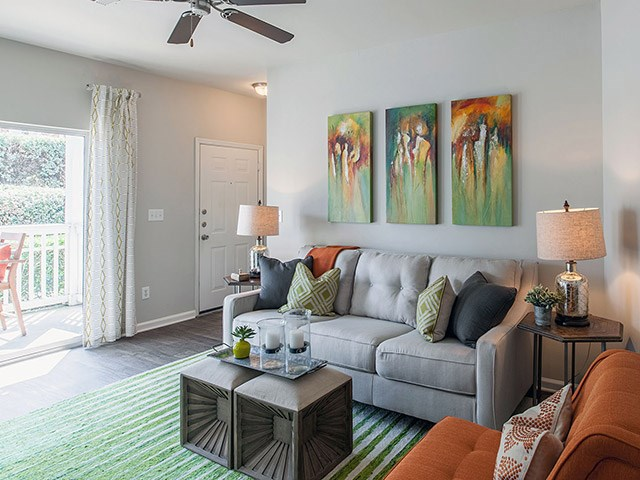 Living Room in Model at Reserve at Bridford Apartments in Greensboro