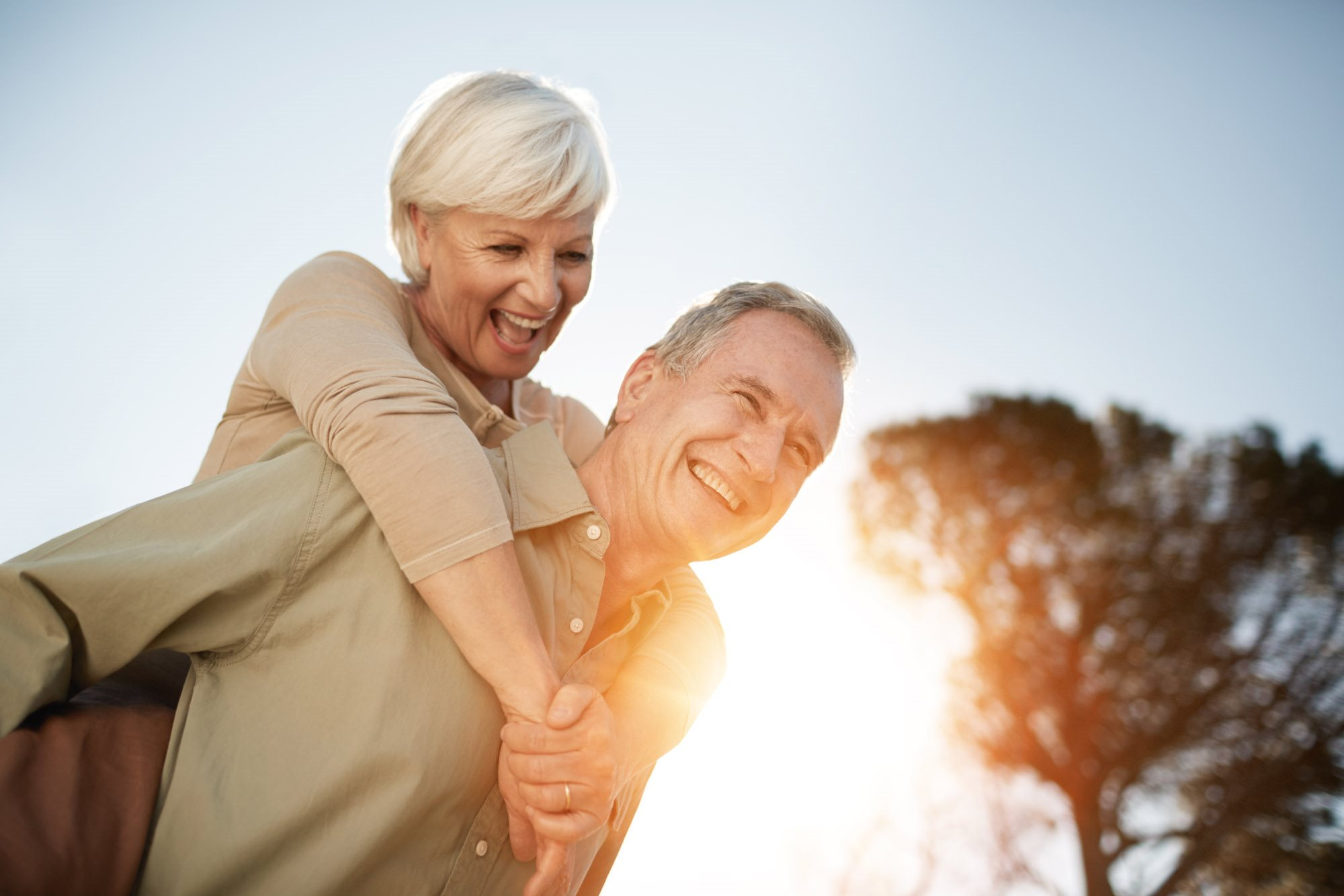 stock image- happy senior couple