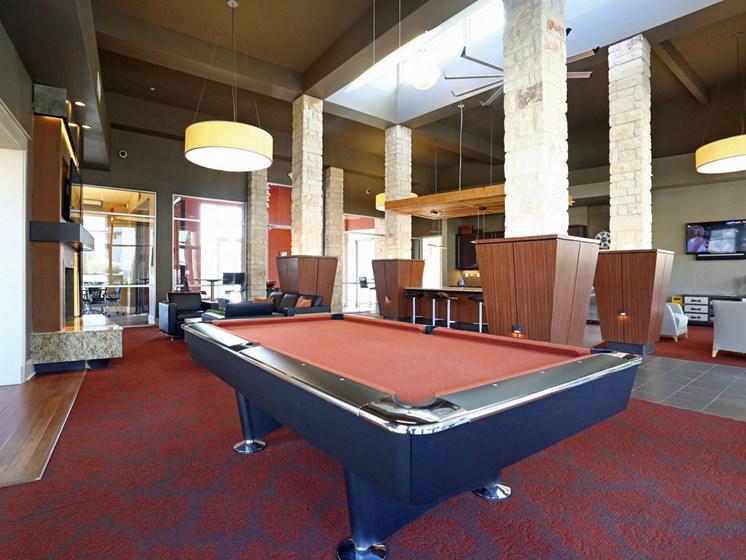 Billiards Room at The Allure, Texas, 78613